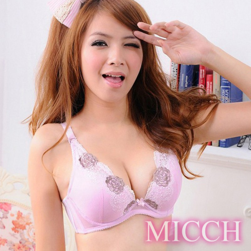 【MICCH】輕水感深V爆乳內衣*紫薔薇*