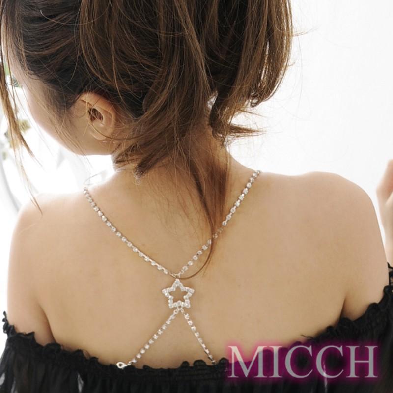 【MICCH】星星美背閃耀鑽石肩帶