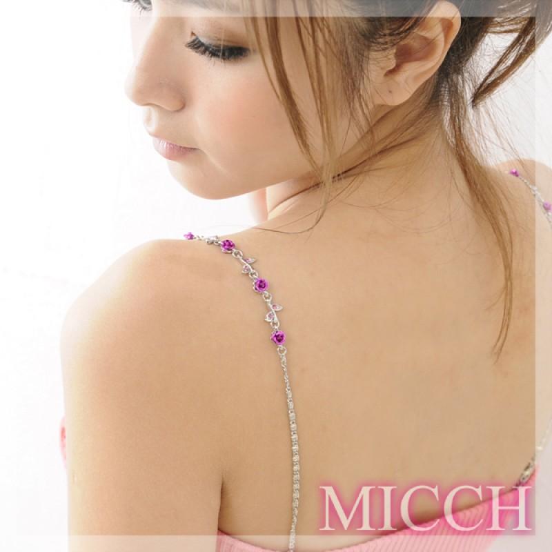 【MICCH】凡爾賽玫瑰閃耀捷克鑽石肩帶