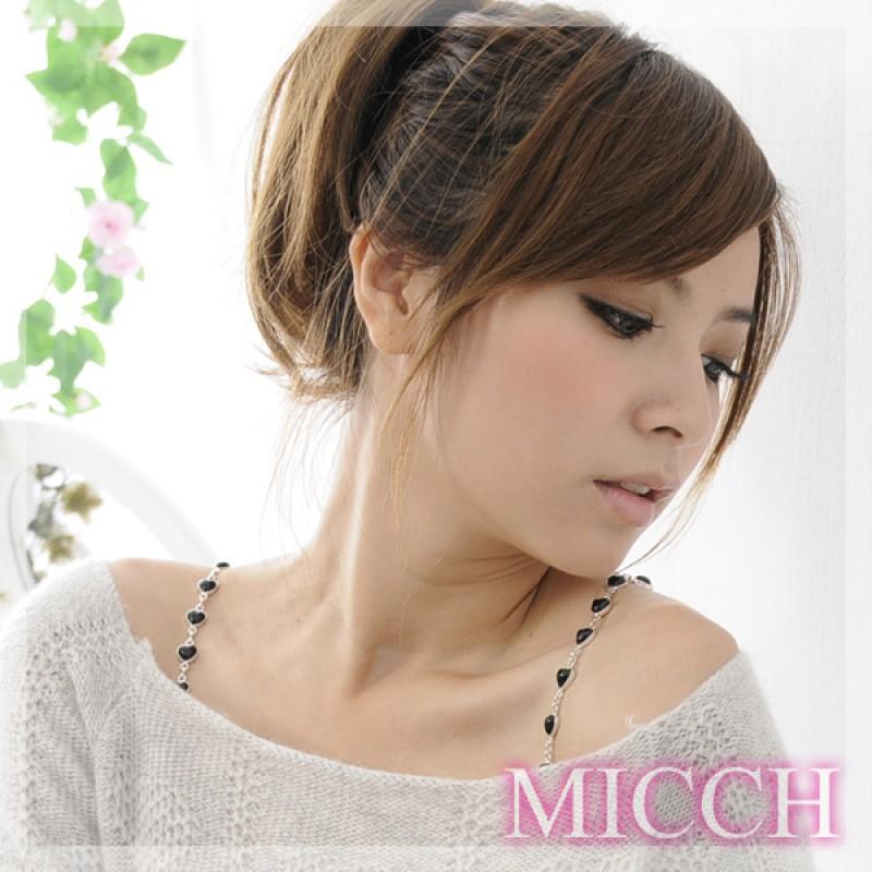 【MICCH】典雅黑愛心寶石肩帶