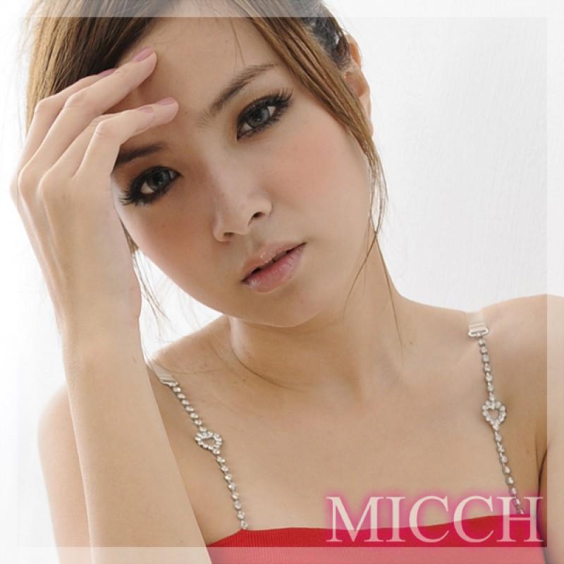 【MICCH】愛心長鑽閃耀捷克鑽石肩帶