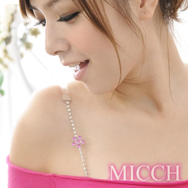 【MICCH】櫻桃紅幸運花閃耀捷克鑽石肩帶