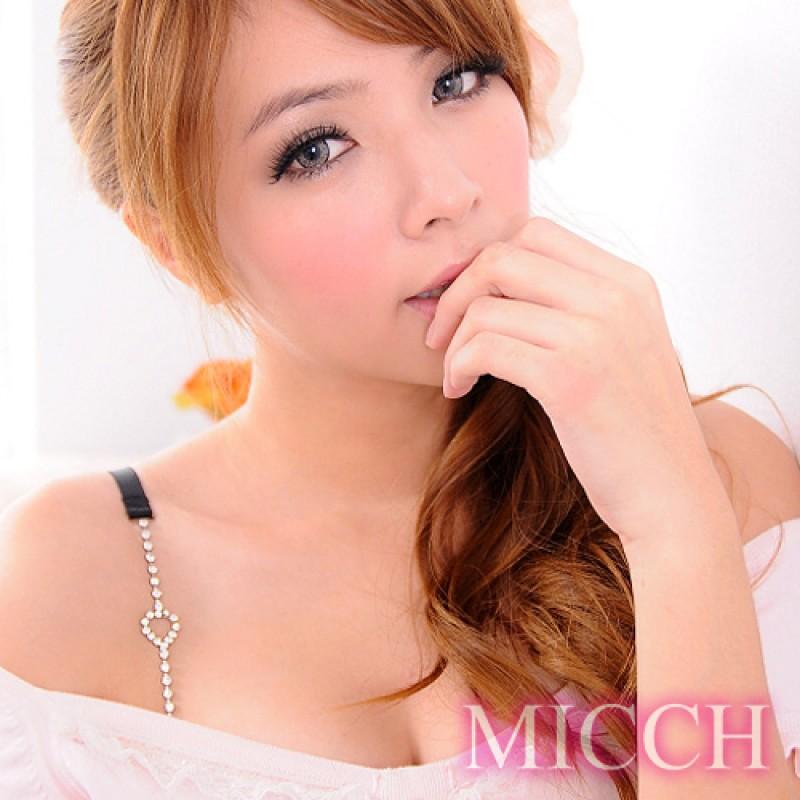 【MICCH】愛心長鑽閃耀捷克鑽石肩帶*百搭黑織帶*