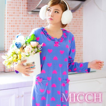 【MICCH】注目亮眼 馬卡龍螢光甜心睡衣裙