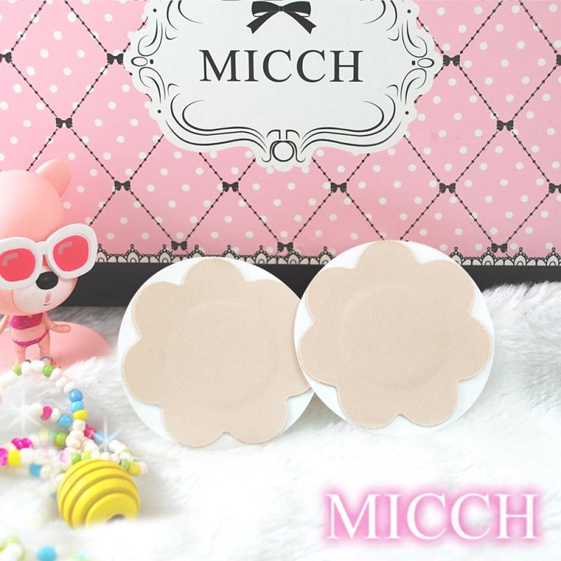 MICCH 台灣製舒柔布面花瓣胸貼三副組