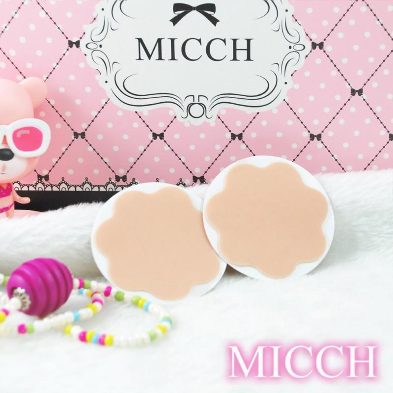 MICCH 台灣製彈性矽膠花瓣胸貼二副組