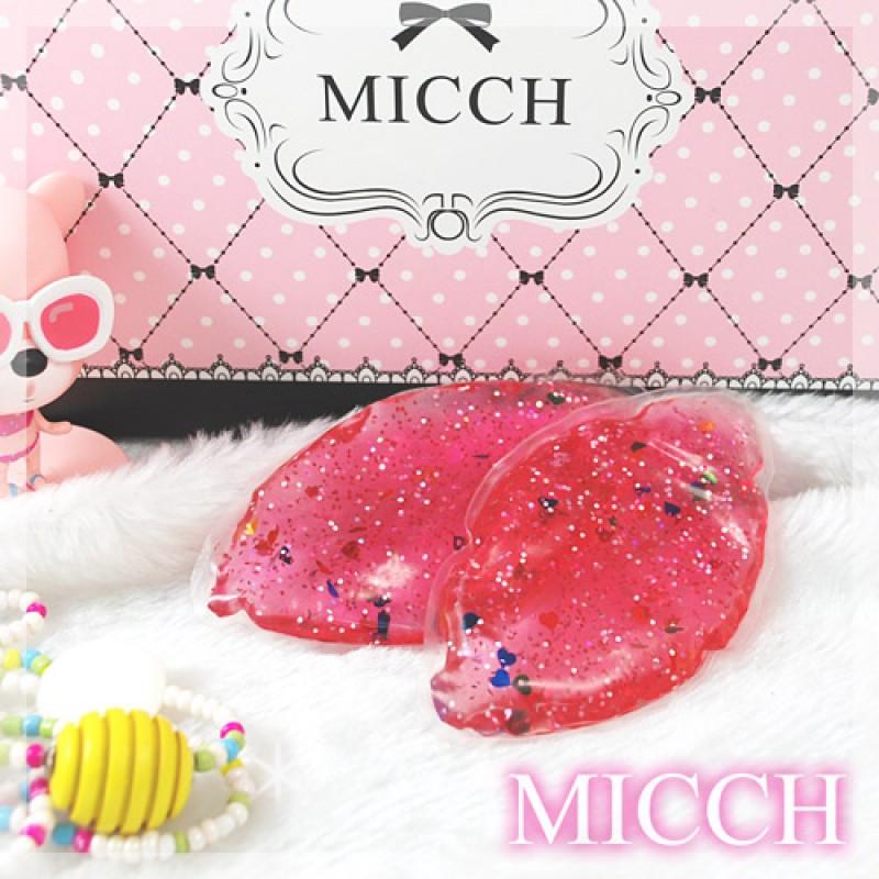 MICCH 台灣製櫻桃紅日系閃耀豔彩果凍胸墊