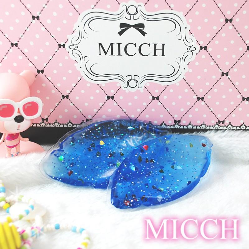 MICCH 台灣製星燦藍日系閃耀豔彩果凍胸墊
