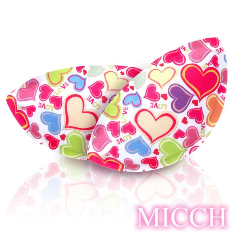 MICCH 豐彩-超輕量透氣柔珠按摩微粒襯胸墊*心喜*