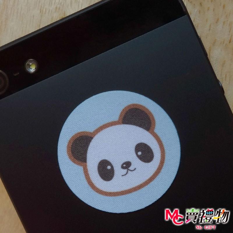 Mc賣禮物-MIT手機螢幕擦拭貼經典尺寸(1片)-Q版動物17_熊貓【W12045】