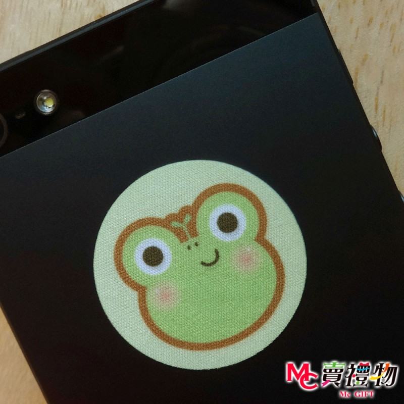 Mc賣禮物-MIT手機螢幕擦拭貼經典尺寸(1片)-Q版動物20_青蛙【W12048】