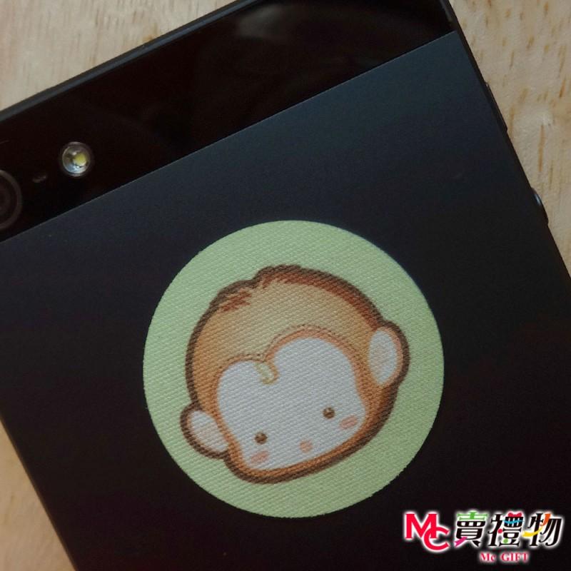 Mc賣禮物-MIT手機螢幕擦拭貼經典尺寸(1片)-Q版動物22_猴子【W12050】