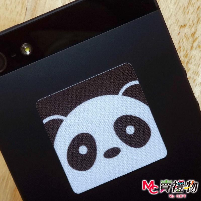 Mc賣禮物-MIT手機螢幕擦拭貼經典尺寸(1片)-Q版動物1_熊貓【W11063】