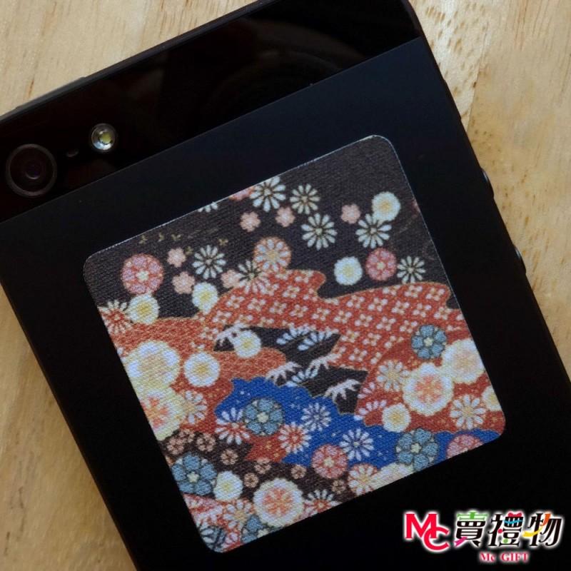 Mc賣禮物-MIT手機螢幕擦拭貼經典尺寸(1片)-和風4【W41004】