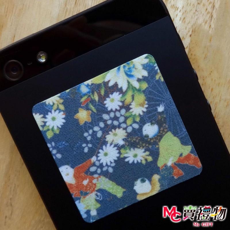 Mc賣禮物-MIT手機螢幕擦拭貼經典尺寸(1片)-和風6【W41006】