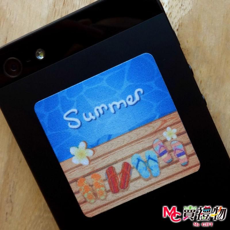 Mc賣禮物-MIT手機螢幕擦拭貼經典尺寸(1片)-夏天時光【W41022】