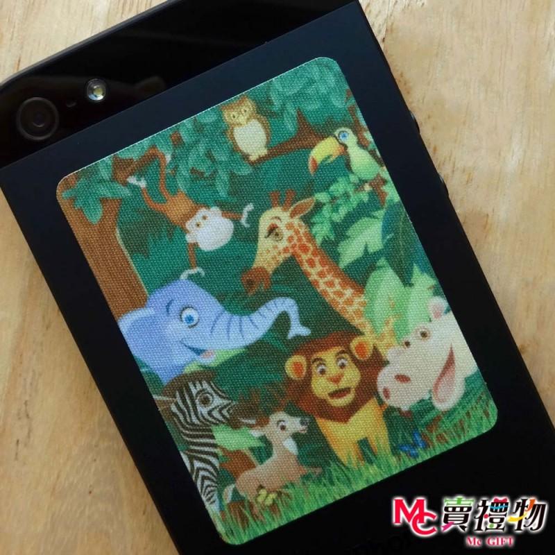 Mc賣禮物-MIT手機螢幕擦拭貼f皇后尺寸(1片)-歡樂叢林【W61107】