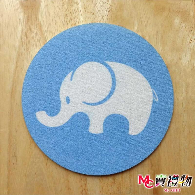 Mc賣禮物-MIT矽晶止滑吸水杯墊(2入)/盒-吸水象【C2020】
