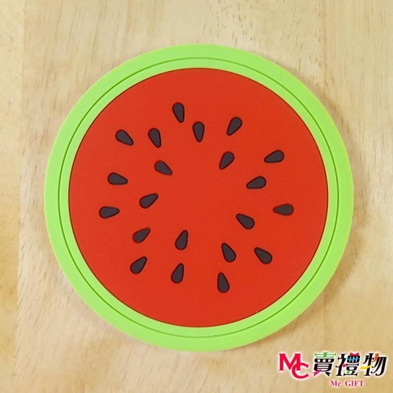 Mc賣禮物-MIT 清新水果來一片 造型 防滑杯墊