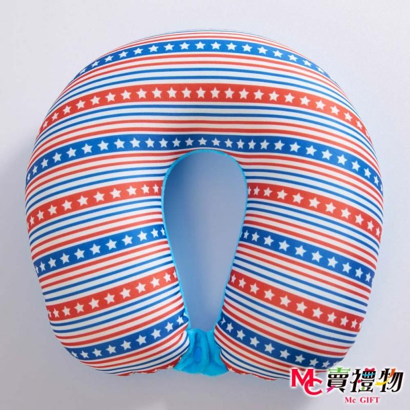Mc賣禮物-MIT超微粒科技U型頸枕-星星條紋【P1022U】