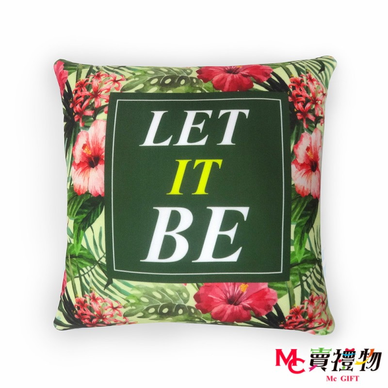 Mc賣禮物-MIT超微粒科技方形抱枕-Let it be【P1035S】